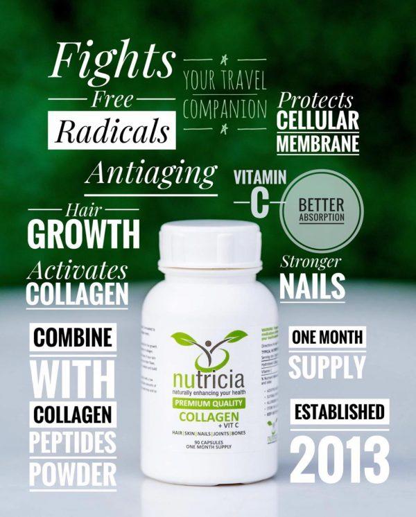 O Nutricia Collagen + Vit C capsules