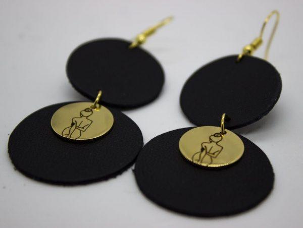 Fearlessly Bold Double Disc Earrings