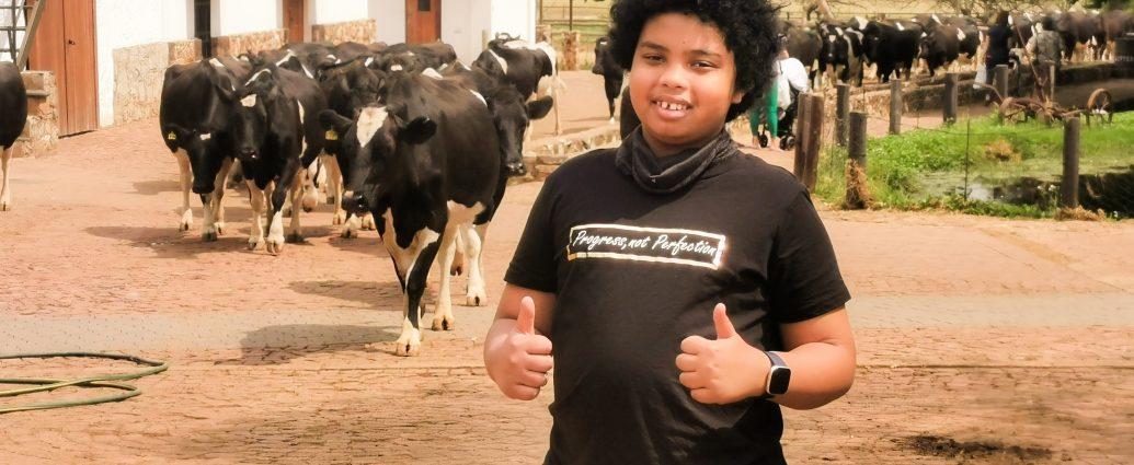 at dairy farm